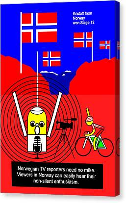 Kristoff Won Stage 15  Canvas Print by Asbjorn Lonvig