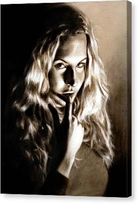 Kristy By Edward Pollick Canvas Print by Edward Pollick