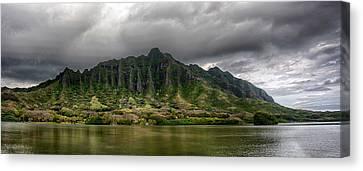 Kualoa Panorama Canvas Print by Dan McManus
