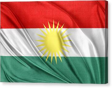 Kurdistan Flag Canvas Print by Les Cunliffe