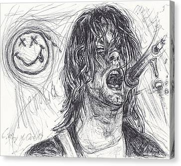 Kurt Cobain Canvas Print by Michael Morgan