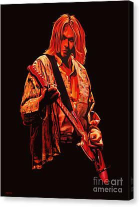 Kurt Cobain Painting Canvas Print by Paul Meijering