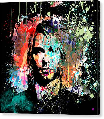 Kurt Cobain Portrait Canvas Print by Gary Grayson