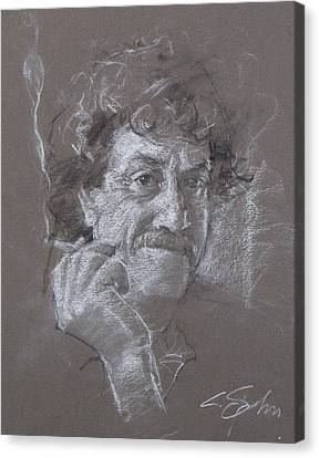 Kurt -- Unfinished Sketch Canvas Print by Cliff Spohn