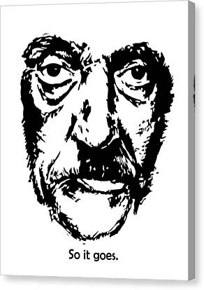 Kurt Vonnegut Canvas Print by Alexandra-Emily Kokova