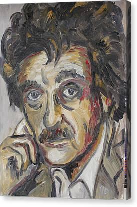 Kurt Vonnegut Canvas Print by Emily Hart