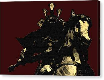 Kusunoki Masahige In Battle Canvas Print by Jeff DOttavio