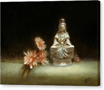 Kwan Yin Canvas Print by Christy Olsen