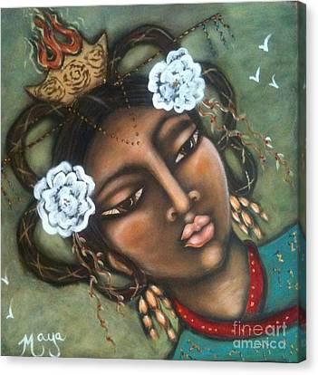 Kwan Yin Canvas Print by Maya Telford