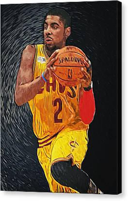 Kyrie Irving Canvas Print by Taylan Apukovska