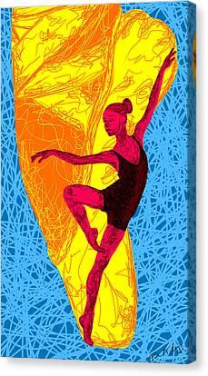 La Ballerina Du Juilliard Canvas Print by Kenal Louis