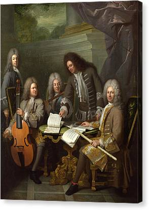 La Barre And Other Musicians Canvas Print by Andre Bouys
