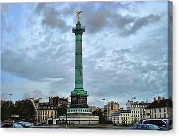 La Bastille Canvas Print by Paris  France