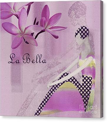 La Bella  - Purple - J104a Canvas Print by Variance Collections