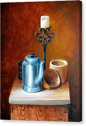 La Cafetera Canvas Print by Edgar Torres