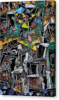La Casa Delle Girandole - Illustrazione Libro Per Bambini - Children Book Illustration Canvas Print by Arte Venezia