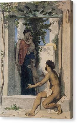 La Charite Romaine Canvas Print by William Bouguereau