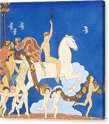 La Cheval Blanc Canvas Print by Georges Barbier