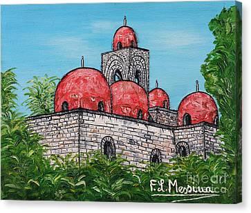 La Chiesa Di San Giovanni Degli Eremiti  Canvas Print by Loredana Messina