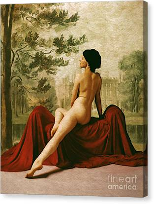 La Donna Che Aspettava Or The Lady Who Waited Canvas Print by Cinema Photography