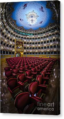 La Fenice Theatre Venice Canvas Print by Paul and Helen Woodford