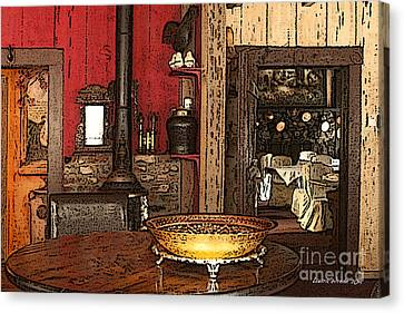 La Ferme Restaurant In Genoa Nevada Canvas Print by Artist and Photographer Laura Wrede