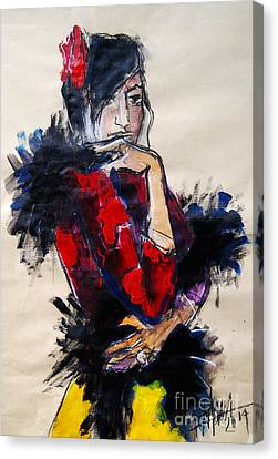 La Gitane - Pia #1 - Figure Series Canvas Print by Mona Edulesco