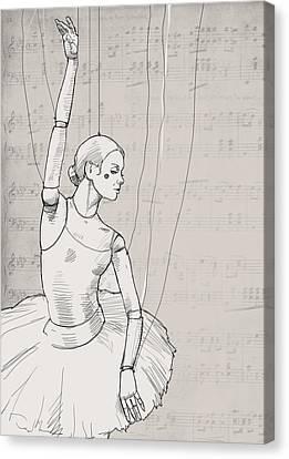 La Jolie Petite Marionnette. Canvas Print by H James Hoff