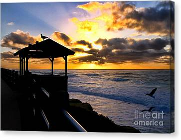La Jolla At Sunset By Diana Sainz Canvas Print by Diana Sainz