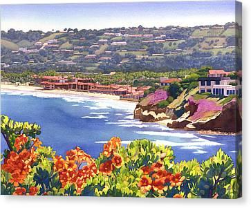 La Jolla Beach And Tennis Club Canvas Print by Mary Helmreich