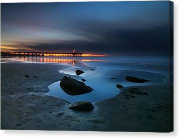 La Jolla Sunset 7 Canvas Print by Larry Marshall