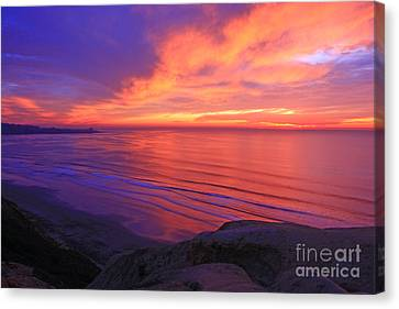 Torrey Pines To La Jolla On Sale Canvas Print by John F Tsumas