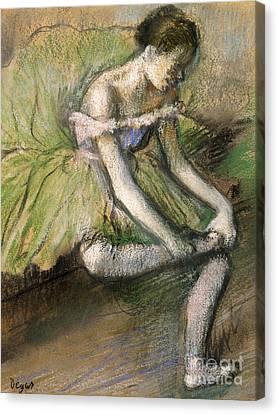 La Jupe Verte Canvas Print by Edgar Degas