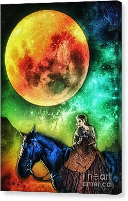 La Luna Canvas Print by Mo T