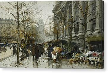 La Madelaine Paris Canvas Print by Eugene Galien-Laloue