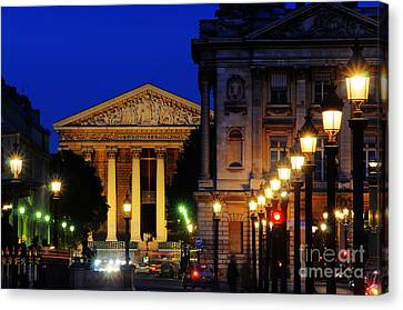 La Madeleine At Night Canvas Print by Colin Woods