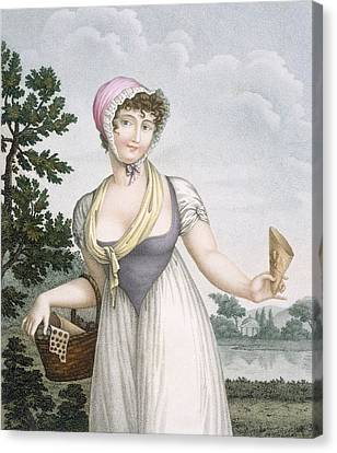 La Marchande De Plaisirs, Engraved Canvas Print by French School