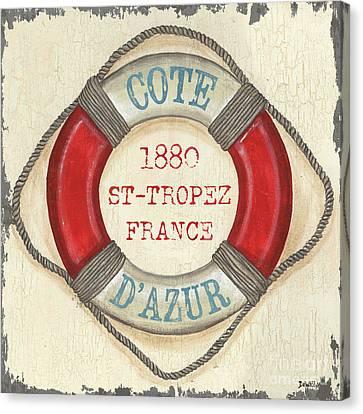 La Mer Cote D'azur Canvas Print by Debbie DeWitt
