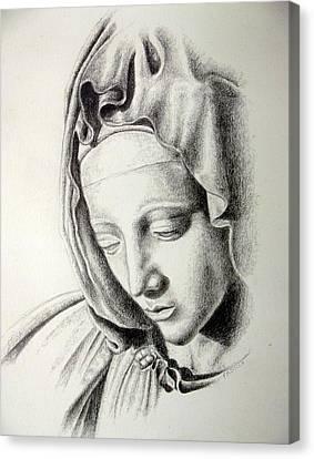 La Pieta Madonna Canvas Print by Heather Calderon