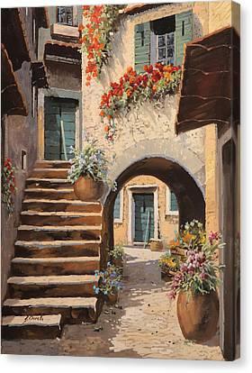 La Porta Dopo L'arco Canvas Print by Guido Borelli