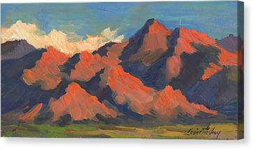La Quinta Mountains Morning Canvas Print by Diane McClary
