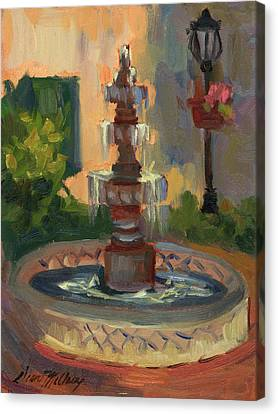La Quinta Resort Fountain Canvas Print by Diane McClary