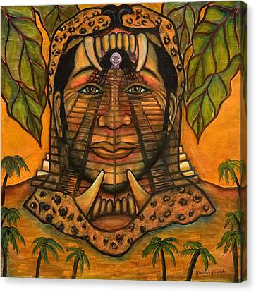 La Reina De Los Jaguares Canvas Print by Yovannah Diovanti