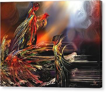 La Rencontre Canvas Print by Francoise Dugourd-Caput