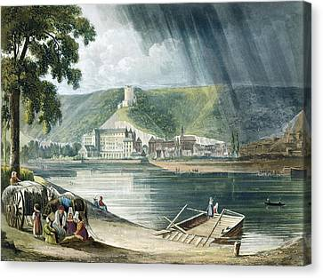 La Roche, From Views On The Seine Canvas Print by John Gendall