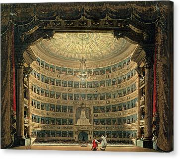 La Scala, Milan, During A Performance Canvas Print by Italian School