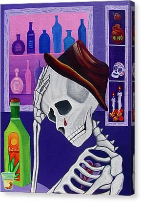 La Vida No Vale Nada Dos Canvas Print by Evangelina Portillo