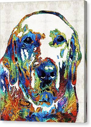 Labrador Retriever Art - Play With Me - By Sharon Cummings Canvas Print by Sharon Cummings