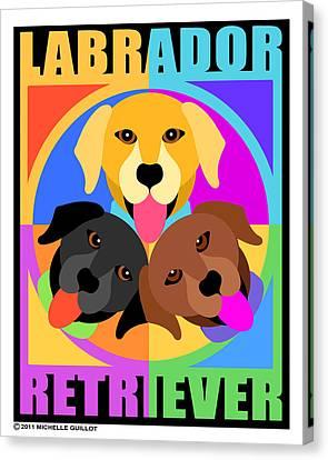 Labrador Retrievers Canvas Print by Michelle Guillot