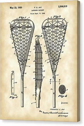 Lacrosse Stick Patent 1948 - Vintage Canvas Print by Stephen Younts